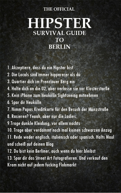 The Official Hipster Guide To Berlin