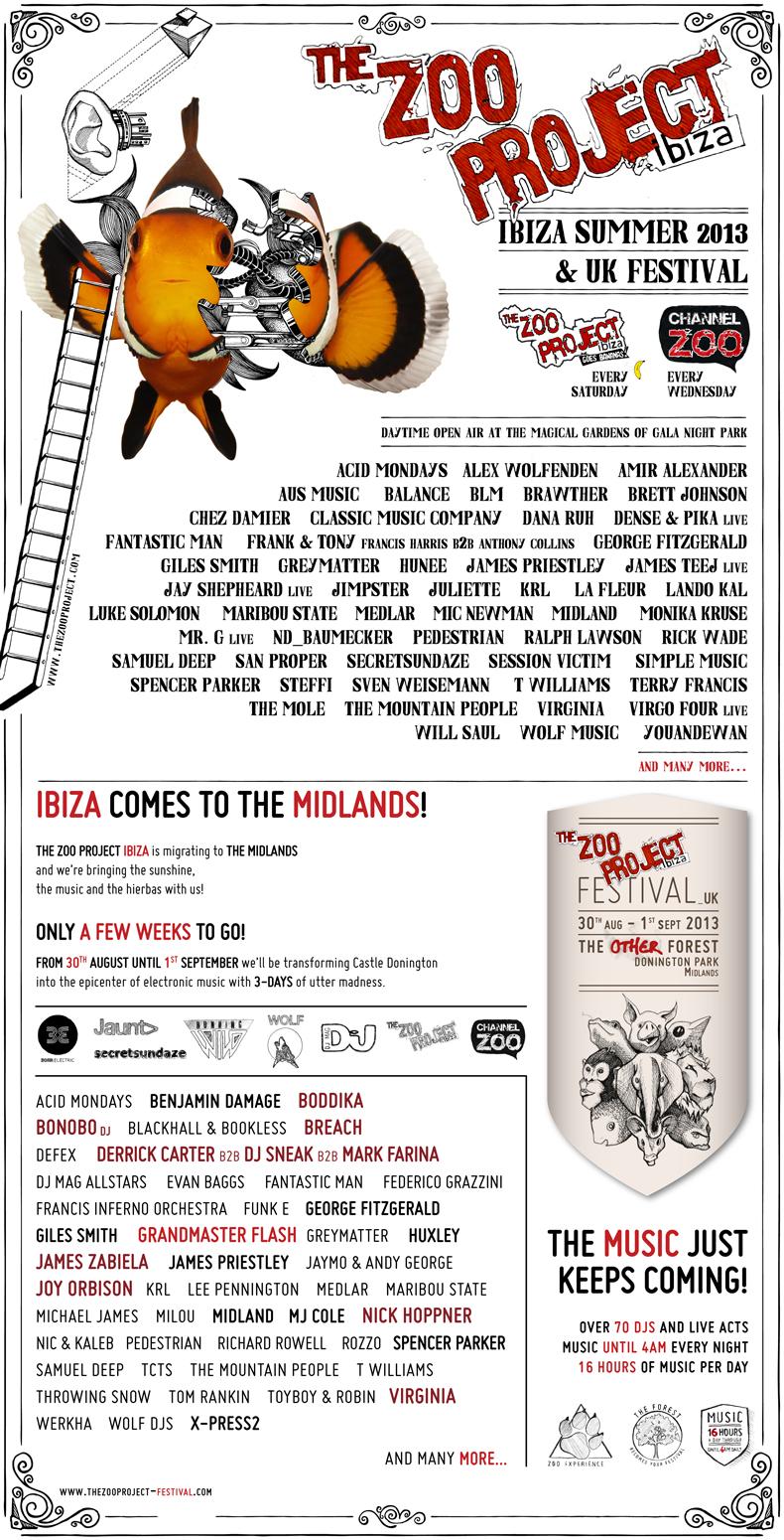 Watergate ZOO Ibiza Summer & UK Festival 2013