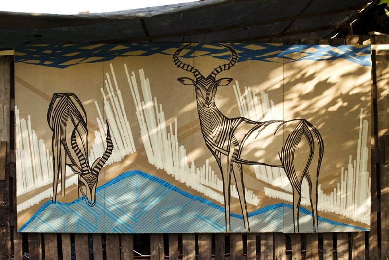 TAPE-ART-by-TAPE-OVER_Fuchsbau-Festival_impalas-in-the-wild_final