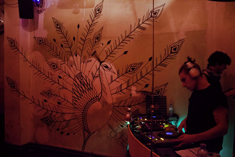 TAPE-ART-by-TAPE-OVER_chalet-club_peacock-red-light
