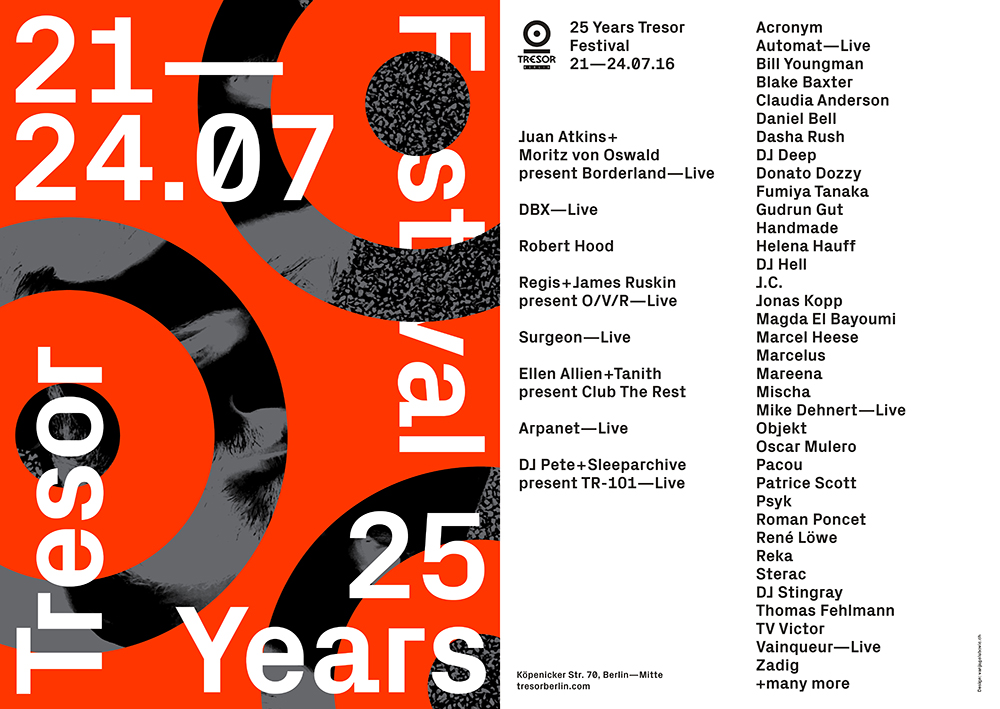 Festival 25years Flyer A5