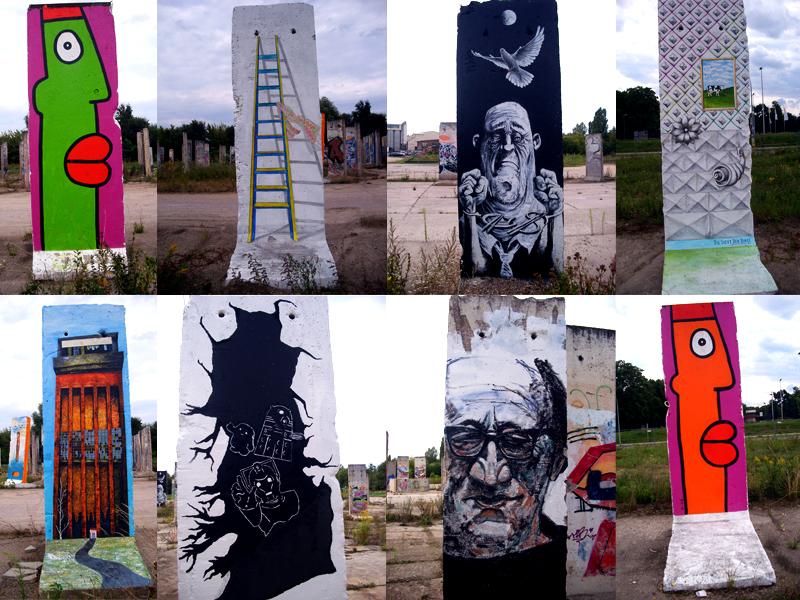 Berliner-Mauer-Segmente-Teltow-sammlung-stelen